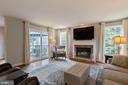 Wood burning fireplace - 21384 CLAPPERTOWN DR, ASHBURN