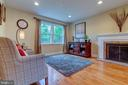 Living Room with wood-burning fireplace - 3119 LAKE AVE, CHEVERLY