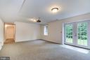 huge theater room with projector and screen - 125 WALNUT FARMS PKWY, FREDERICKSBURG