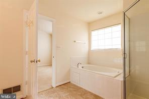 soaking tub in master bath & separate shower - 6338 DAKINE CIR, SPRINGFIELD