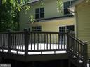 Deck with stairs to backyard - 12302 HUNGERFORD MANOR CT, MONROVIA