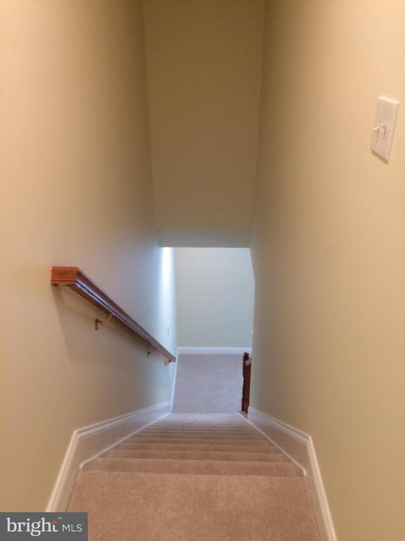 Back stairs from family room to 2nd floor - 12302 HUNGERFORD MANOR CT, MONROVIA