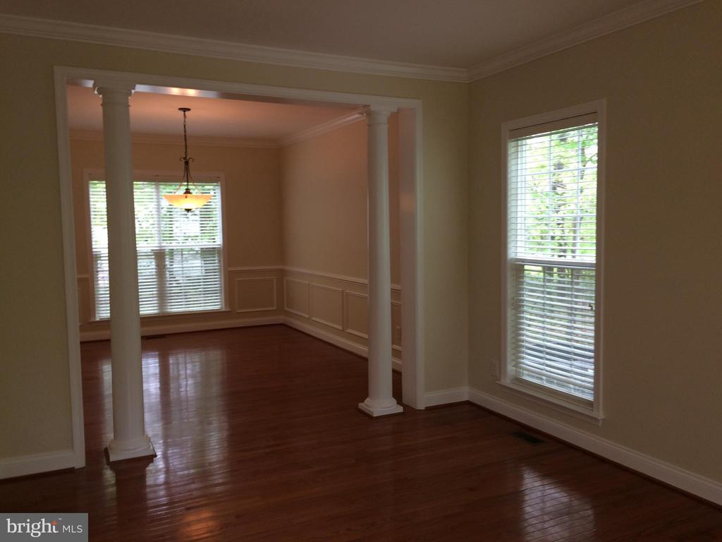 View from living room toward dining room - 12302 HUNGERFORD MANOR CT, MONROVIA
