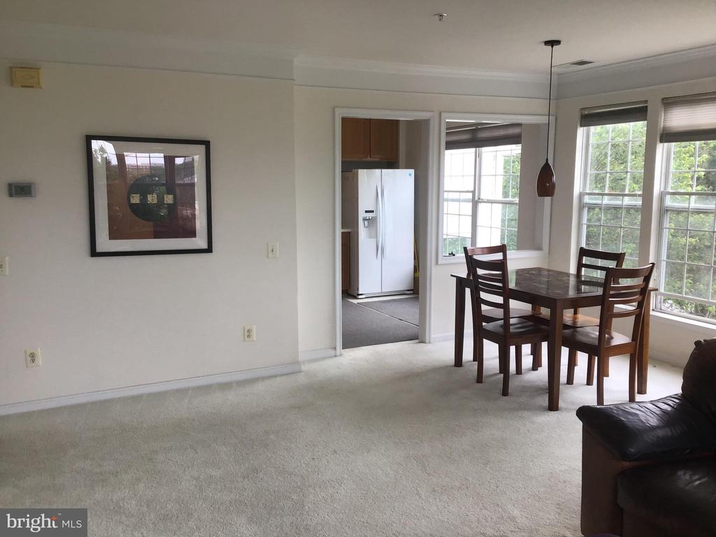Living Room/Dining  Area Looks Out To View - 12789 FAIR CREST CT #16-302, FAIRFAX