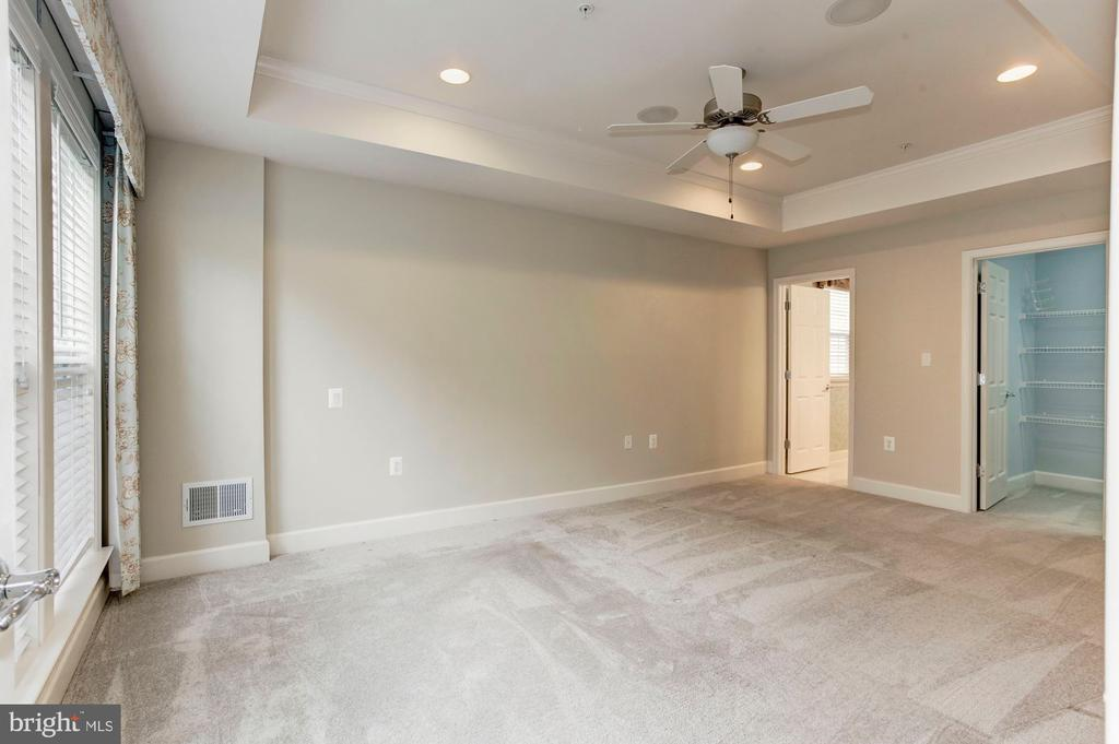 Master Bedroom with a huge walk in closet. - 275 LONG POINT DR, FREDERICKSBURG