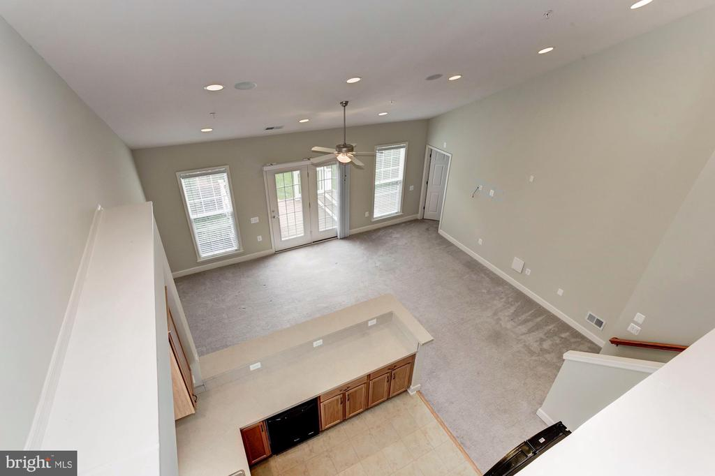 View from above! Loft looking at the Kitchen. - 275 LONG POINT DR, FREDERICKSBURG