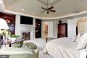 Main Level Master Bedroom - 8317 WOODLEA MILL RD, MCLEAN