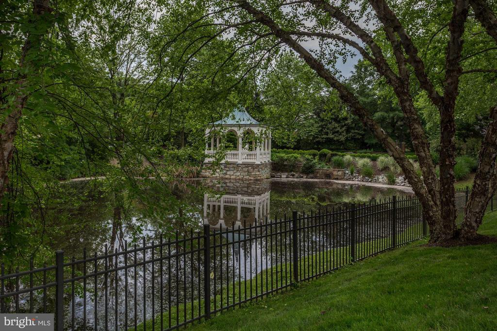 Gazebo & Pond View - 8317 WOODLEA MILL RD, MCLEAN