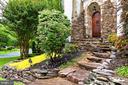 Entrance/KitchenExterior Front, Stone Entrance - 7730 VIRGINIA LN, FALLS CHURCH