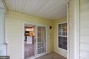 Private balcony off dining room - 43114 WATERCREST SQ #205, CHANTILLY