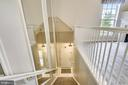 Entrance and garage access up to main living level - 43114 WATERCREST SQ #205, CHANTILLY