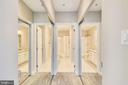 Side by side closets in Master Bedroom - 43114 WATERCREST SQ #205, CHANTILLY
