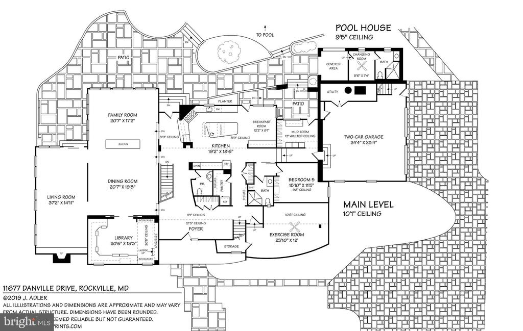 Floor Plan - Main Level - 11677 DANVILLE DR, ROCKVILLE
