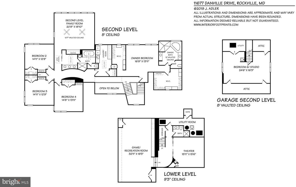 Floor Plan - Upper & Lower Level - 11677 DANVILLE DR, ROCKVILLE