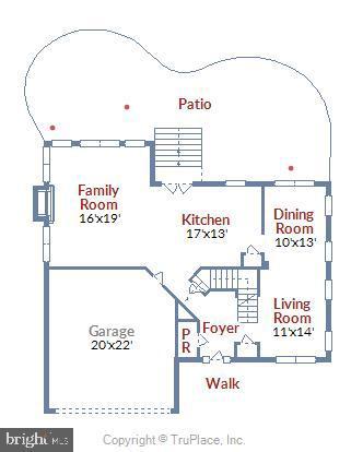 Main level floor plan - 732 HUNTON PL NE, LEESBURG