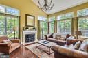 Light & bright family room w/woodburning fireplace - 732 HUNTON PL NE, LEESBURG