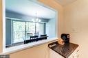 Large pass-through  to dining area - 12705 LOTTE DR #103, WOODBRIDGE
