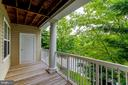 Large balcony with privacy from trees - 42421 ROCKROSE SQ #202, BRAMBLETON