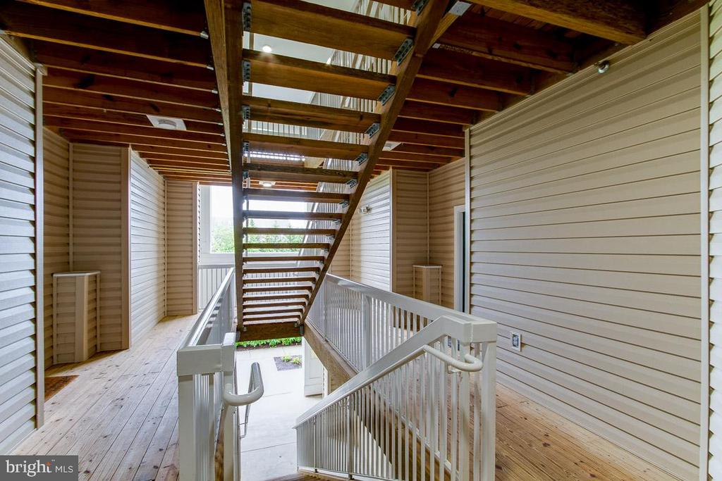Stairway up and down to your garage - 42421 ROCKROSE SQ #202, BRAMBLETON