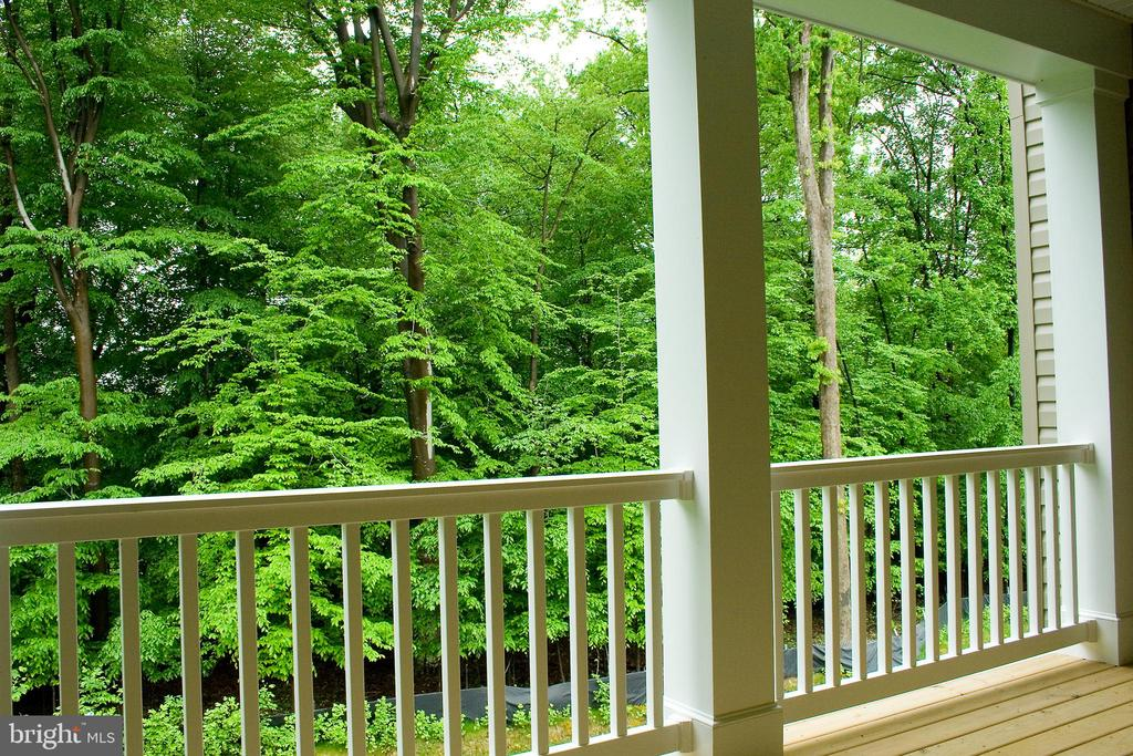 Green views and privacy off back porch - 6438 DRESDEN PL, FREDERICK