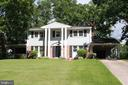 Front of stately colonial - 9005 CHERRYTREE DR, ALEXANDRIA
