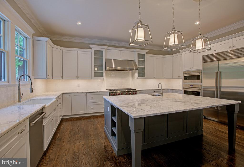 Chefs kitchen with top of the line appliances - 1922 BYRD RD, VIENNA