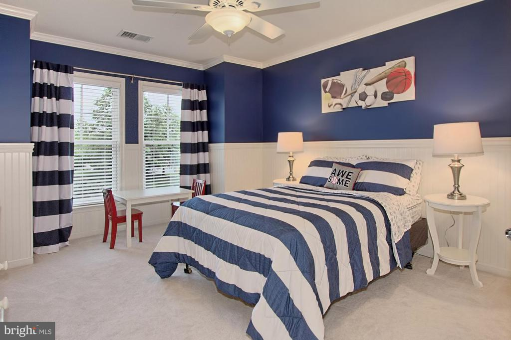 Spacious Bedroom #3 w/ CF and Custom Trim Details - 42690 EXPLORER DR, BRAMBLETON