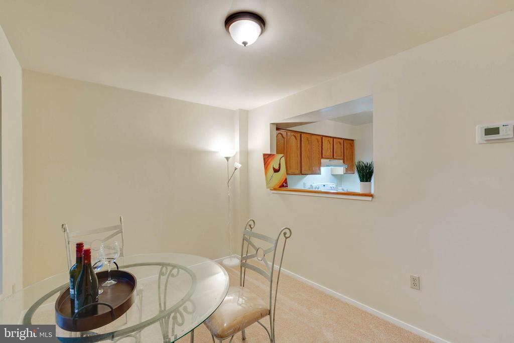 Dining Room w/Kitchen Pass through Window - 5967 VALERIAN LN, ROCKVILLE