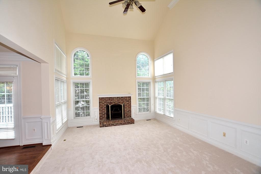 Family room with fireplace - 8913 GRIST MILL WOODS CT, ALEXANDRIA