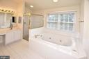 Master bath - 8913 GRIST MILL WOODS CT, ALEXANDRIA