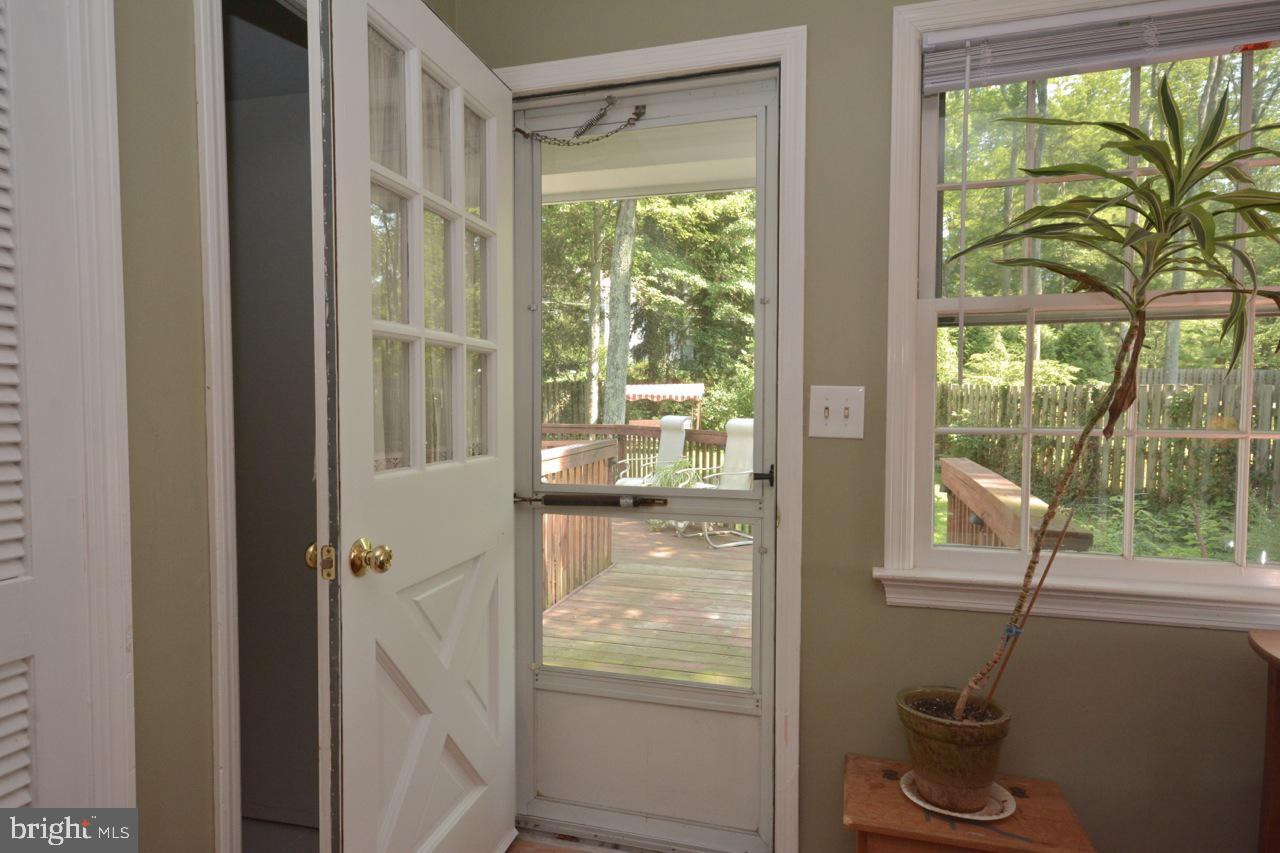Door in Princess suite to back yard/deck.