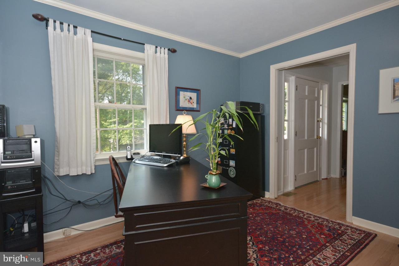 Office/Study looking out to entrance foyer.
