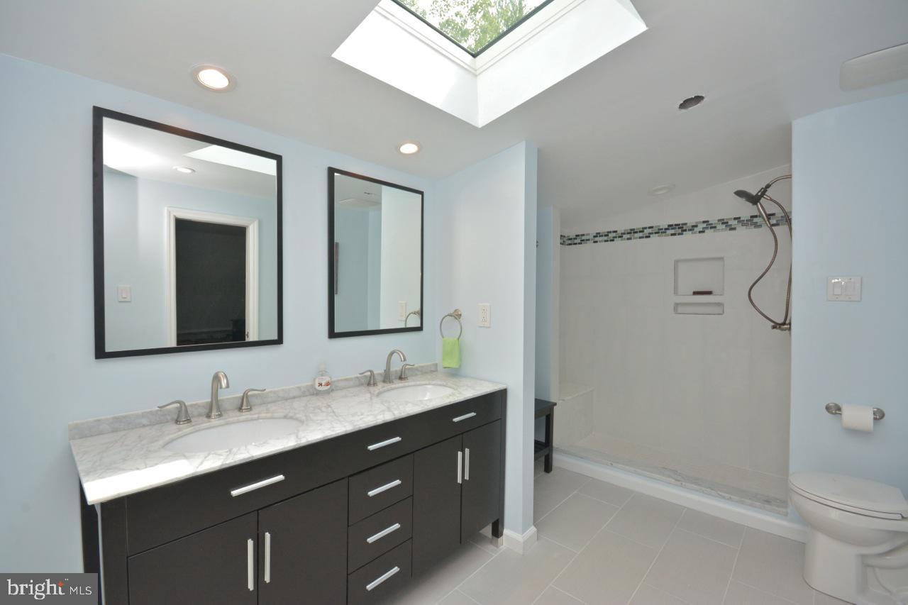 Renovated master bathroom..