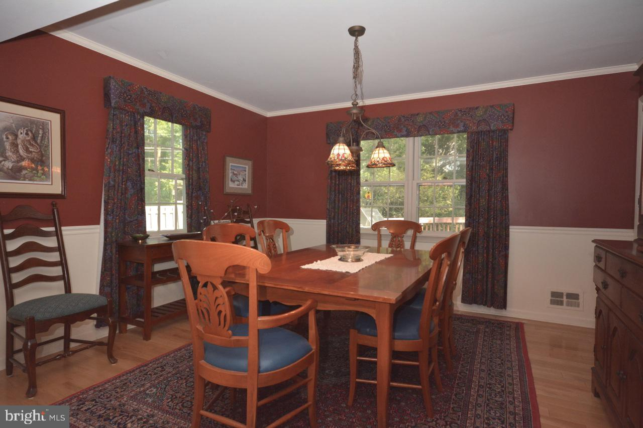Formal dining room just off the kitchen.