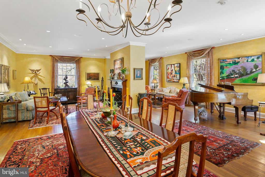 Open Dining Room, Living Room, and Sitting Room - 3120 WOODLEY RD NW, WASHINGTON