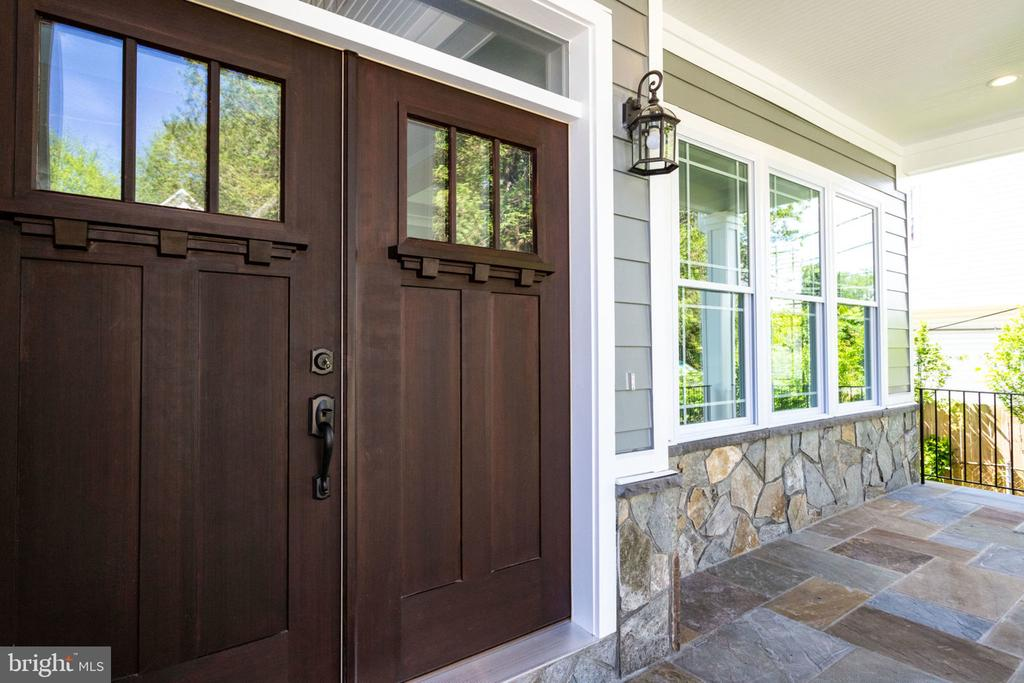 Insulated front door - 2043 ARCH DR, FALLS CHURCH