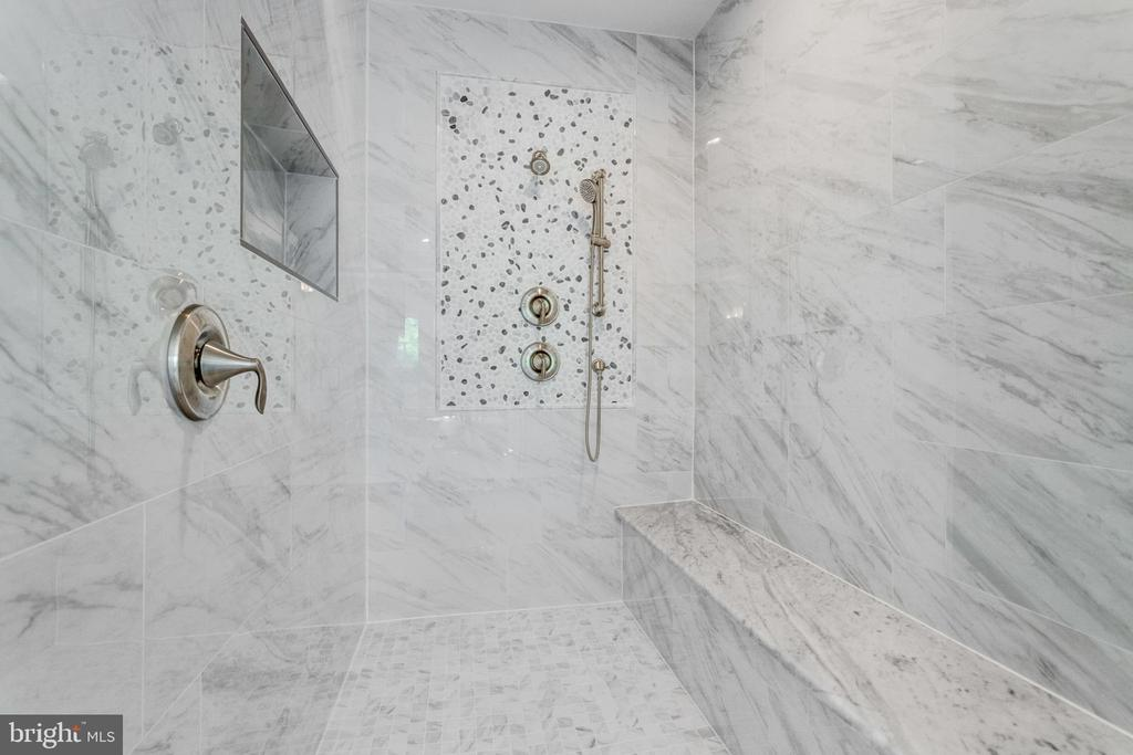 Spa shower with multiple shower heads. - 2043 ARCH DR, FALLS CHURCH