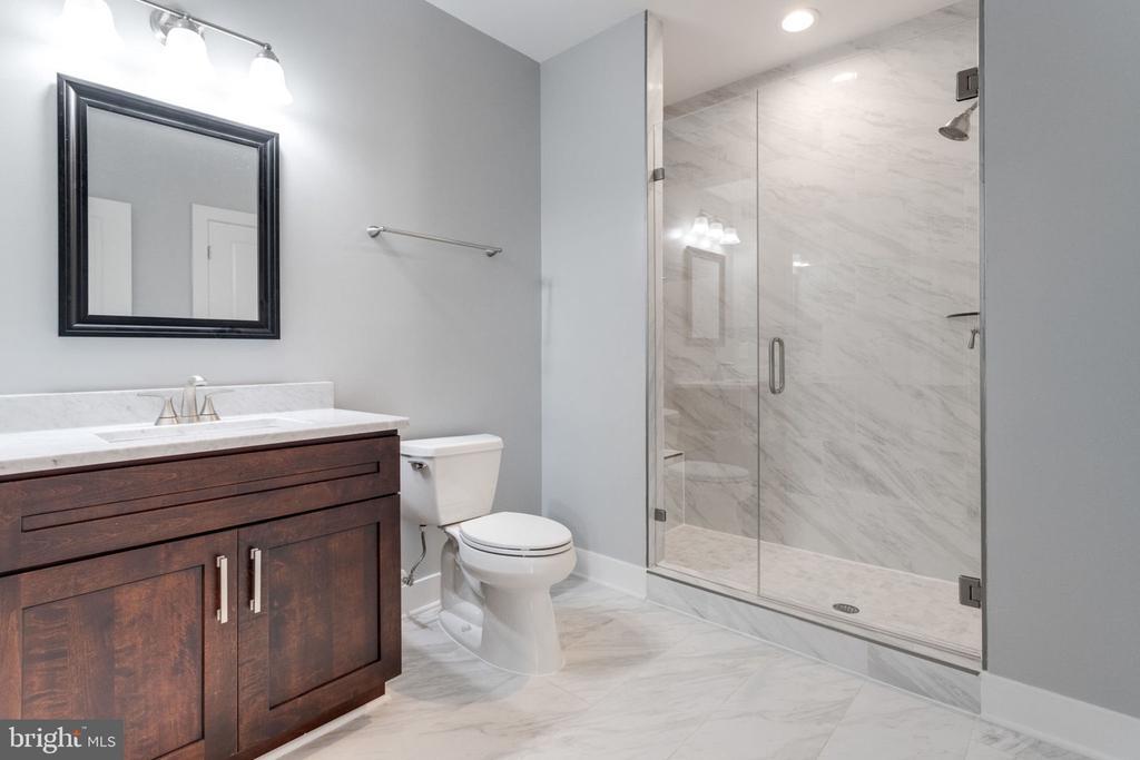 Basement bathroom. - 2043 ARCH DR, FALLS CHURCH