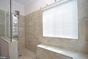 Master Bath w/Custom Tiled Walk In Shower - 15537 ALLAIRE DR, GAINESVILLE
