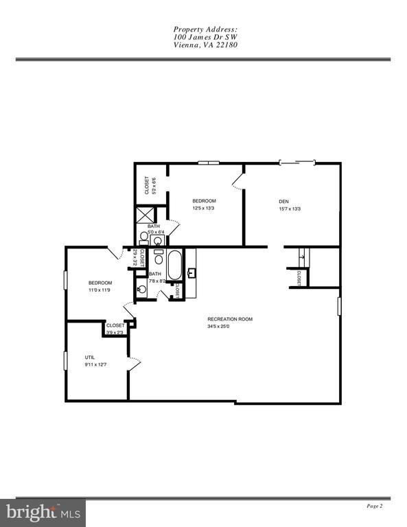 Lower Level Floor Plan - 100 JAMES DR SW, VIENNA