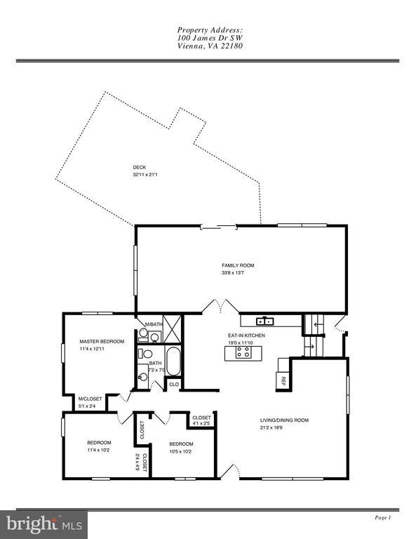 Main Level Floor Plan - 100 JAMES DR SW, VIENNA