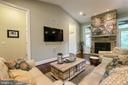 Floor to Ceiling Stone Woodburning Fireplace - 1249 POPLAR RD, STAFFORD