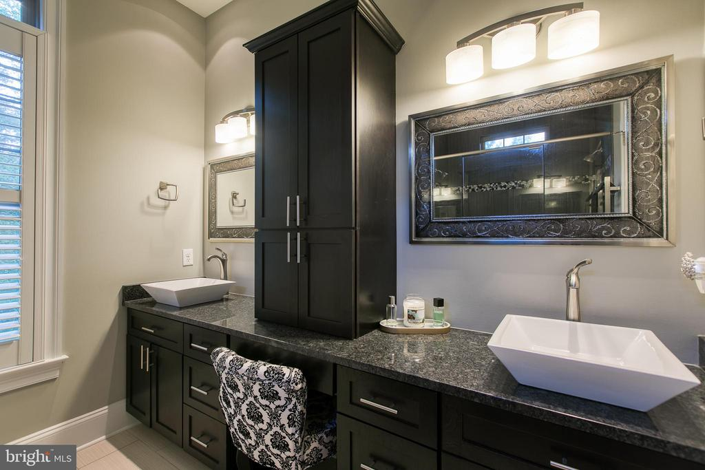 Master Bathroom with dual vessel sinks - 1249 POPLAR RD, STAFFORD