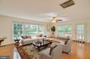 Family Room off the Kitchen with access to deck - 2918 GLENVALE DR, FAIRFAX
