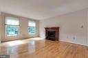 Living Room with Wood-Burning Fireplace - 628 3RD ST, HERNDON
