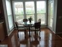 Breakfast Area with View to Nice Deck and Backyard - 5322 SAMMIE KAY LN, CENTREVILLE