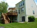 Deck with Trellis and Stairs - 5322 SAMMIE KAY LN, CENTREVILLE