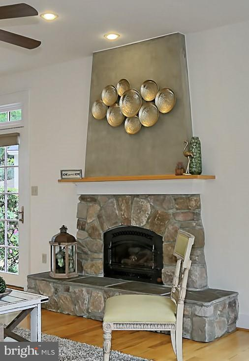 2nd Stone Fireplace - 7730 VIRGINIA LN, FALLS CHURCH