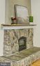 Stone Fireplace - 7730 VIRGINIA LN, FALLS CHURCH