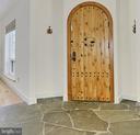Front Door w/Stone Flooring - 7730 VIRGINIA LN, FALLS CHURCH